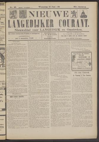 Nieuwe Langedijker Courant 1921-06-15