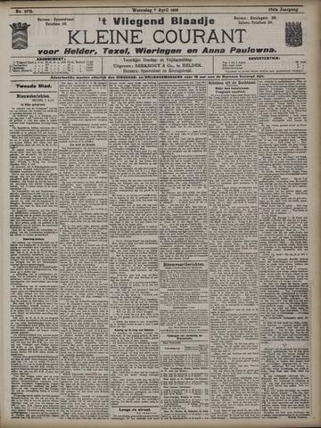 Vliegend blaadje : nieuws- en advertentiebode voor Den Helder 1909-04-07