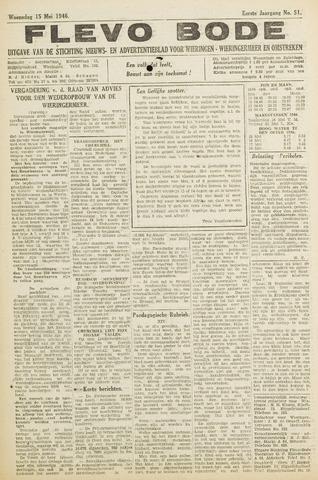 Flevo-bode: nieuwsblad voor Wieringen-Wieringermeer 1946-05-15