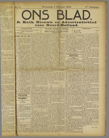 Ons Blad : katholiek nieuwsblad voor N-H 1908-02-05