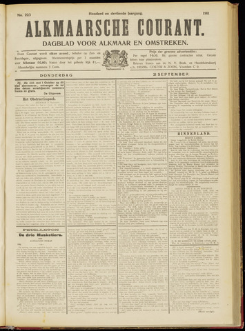Alkmaarsche Courant 1911-09-21