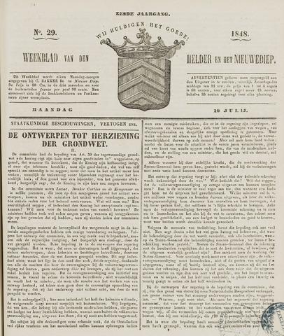 Weekblad van Den Helder en het Nieuwediep 1848-07-10