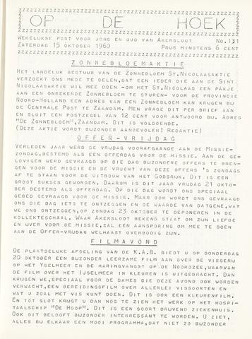 Op De Hoek, weekblad voor Akersloot 1960-10-15