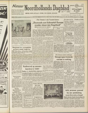 Nieuw Noordhollandsch Dagblad : voor Alkmaar en omgeving 1950-11-15