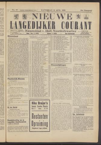 Nieuwe Langedijker Courant 1930-08-16