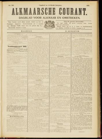 Alkmaarsche Courant 1911-08-14