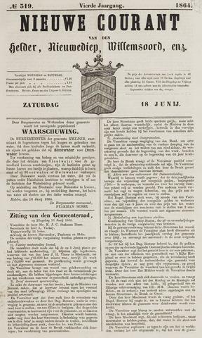 Nieuwe Courant van Den Helder 1864-06-18