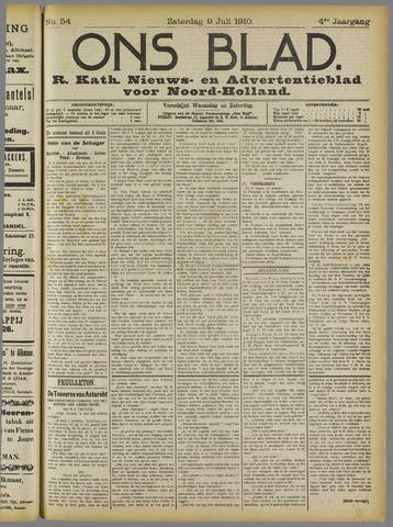 Ons Blad : katholiek nieuwsblad voor N-H 1910-07-09