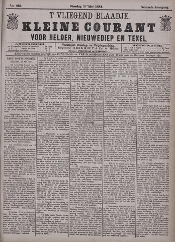 Vliegend blaadje : nieuws- en advertentiebode voor Den Helder 1881-05-31