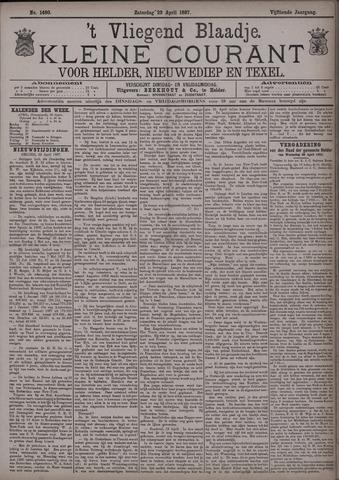 Vliegend blaadje : nieuws- en advertentiebode voor Den Helder 1887-04-23