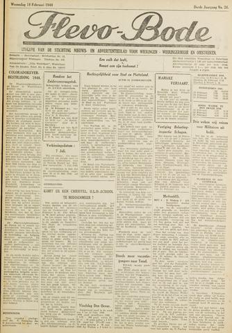 Flevo-bode: nieuwsblad voor Wieringen-Wieringermeer 1948-02-18