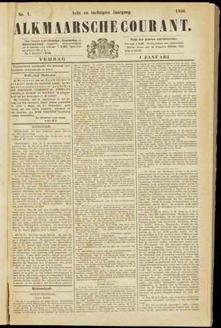 Alkmaarsche Courant 1886-01-01