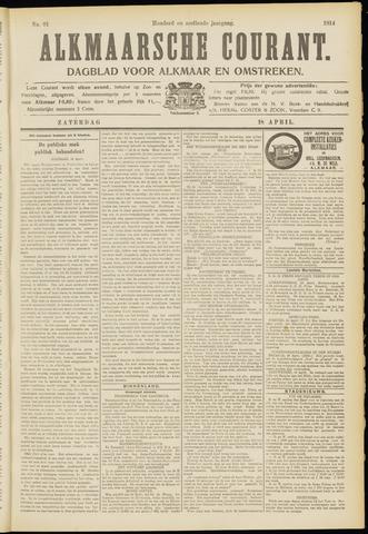 Alkmaarsche Courant 1914-04-18