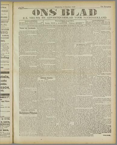 Ons Blad : katholiek nieuwsblad voor N-H 1920-10-04