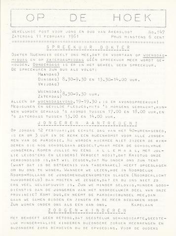 Op De Hoek, weekblad voor Akersloot 1961-02-11