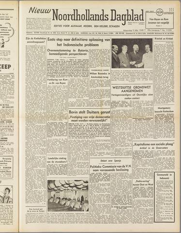 Nieuw Noordhollandsch Dagblad : voor Alkmaar en omgeving 1949-05-09