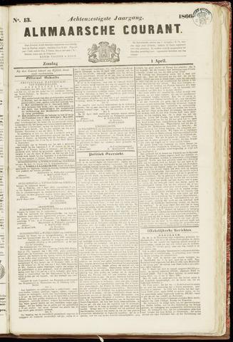 Alkmaarsche Courant 1866-04-01