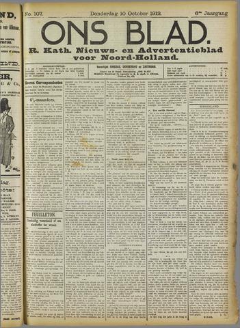 Ons Blad : katholiek nieuwsblad voor N-H 1912-10-10