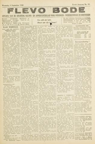Flevo-bode: nieuwsblad voor Wieringen-Wieringermeer 1946-09-04