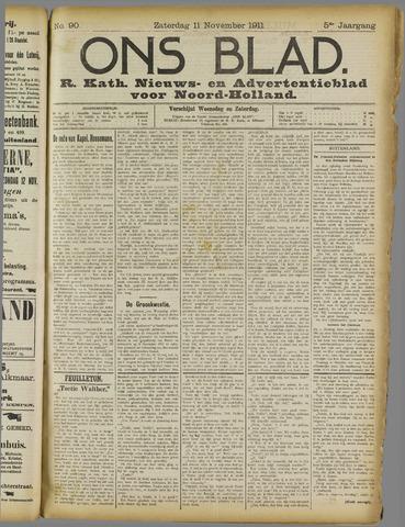 Ons Blad : katholiek nieuwsblad voor N-H 1911-11-11