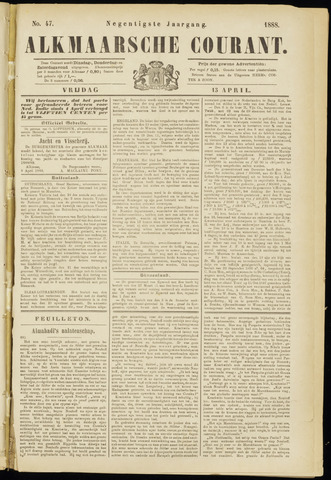 Alkmaarsche Courant 1888-04-13