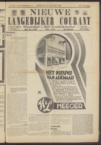 Nieuwe Langedijker Courant 1933-03-21