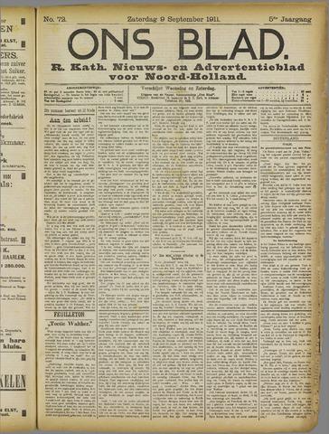 Ons Blad : katholiek nieuwsblad voor N-H 1911-09-09