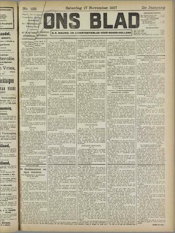 Ons Blad : katholiek nieuwsblad voor N-H 1917-11-17