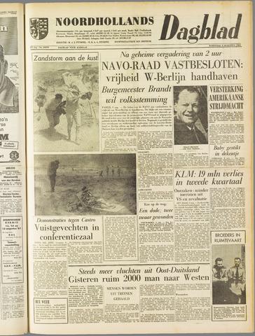 Noordhollands Dagblad : dagblad voor Alkmaar en omgeving 1961-08-09