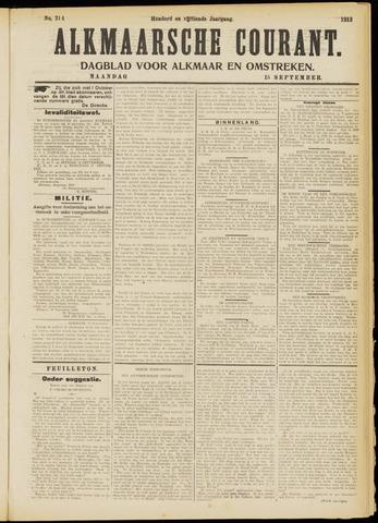 Alkmaarsche Courant 1913-09-15
