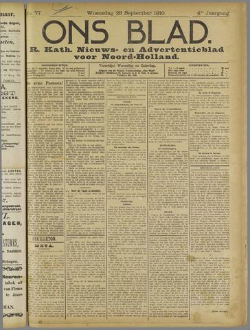 Ons Blad : katholiek nieuwsblad voor N-H 1910-09-28