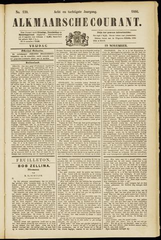 Alkmaarsche Courant 1886-11-19