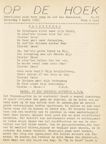 Op De Hoek, weekblad voor Akersloot 1955-04-02