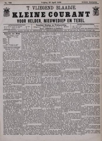 Vliegend blaadje : nieuws- en advertentiebode voor Den Helder 1880-04-23