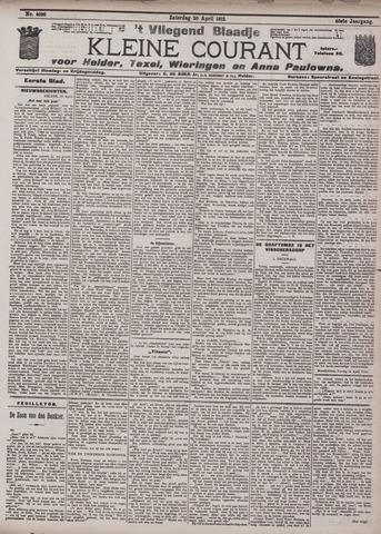 Vliegend blaadje : nieuws- en advertentiebode voor Den Helder 1912-04-20