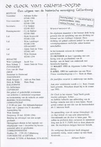 De Clock van Callens-Ooghe 1992-09-01