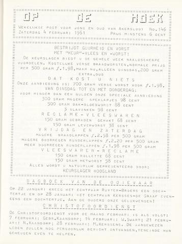 Op De Hoek, weekblad voor Akersloot 1961-02-04
