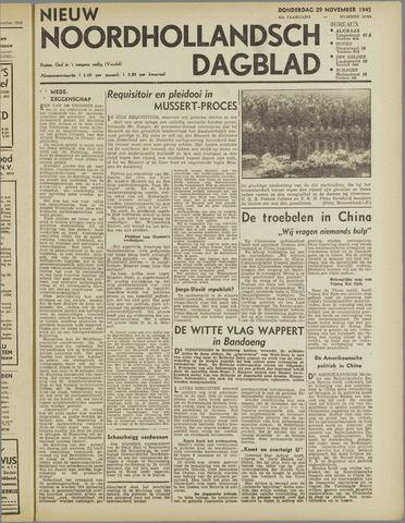 Nieuw Noordhollandsch Dagblad : voor Alkmaar en omgeving 1945-11-29