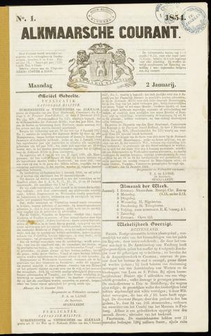 Alkmaarsche Courant 1854-01-02