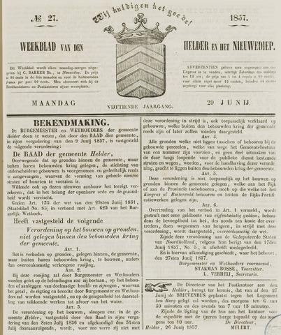Weekblad van Den Helder en het Nieuwediep 1857-06-29