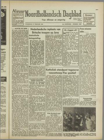 Nieuw Noordhollandsch Dagblad : voor Alkmaar en omgeving 1946-02-27