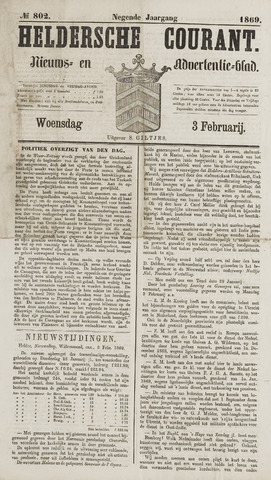 Heldersche Courant 1869-02-03