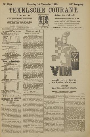 Texelsche Courant 1923-11-10