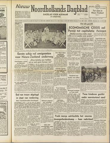 Nieuw Noordhollandsch Dagblad : voor Alkmaar en omgeving 1951-08-27