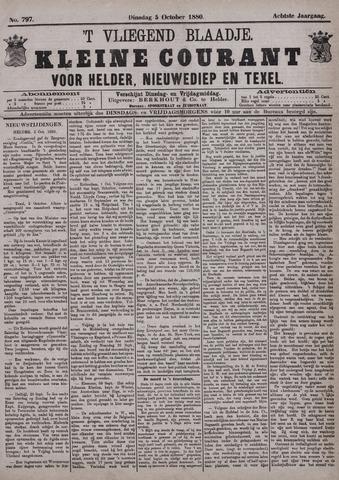 Vliegend blaadje : nieuws- en advertentiebode voor Den Helder 1880-10-05