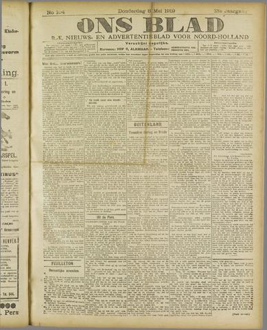Ons Blad : katholiek nieuwsblad voor N-H 1919-05-08