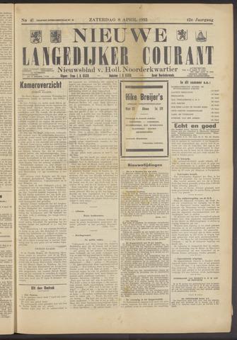 Nieuwe Langedijker Courant 1933-04-08