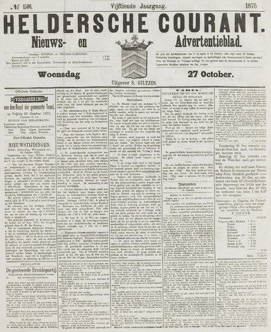 Heldersche Courant 1875-10-27