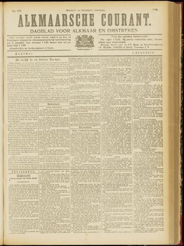 Alkmaarsche Courant 1918-08-05