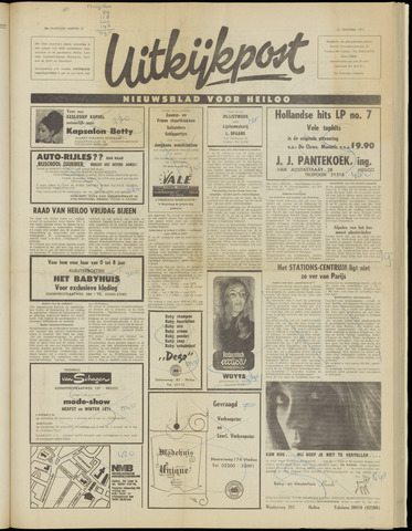 Uitkijkpost : nieuwsblad voor Heiloo e.o. 1971-09-22